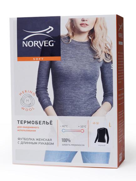 NORVEG Футболка женская Soft Shirt дл. рукав,, фото 9