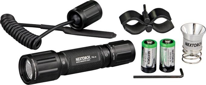 NexTORCH фонарь тактический T6L 320Lum с вын.кн.,кронш. и зап лампа, фото 2