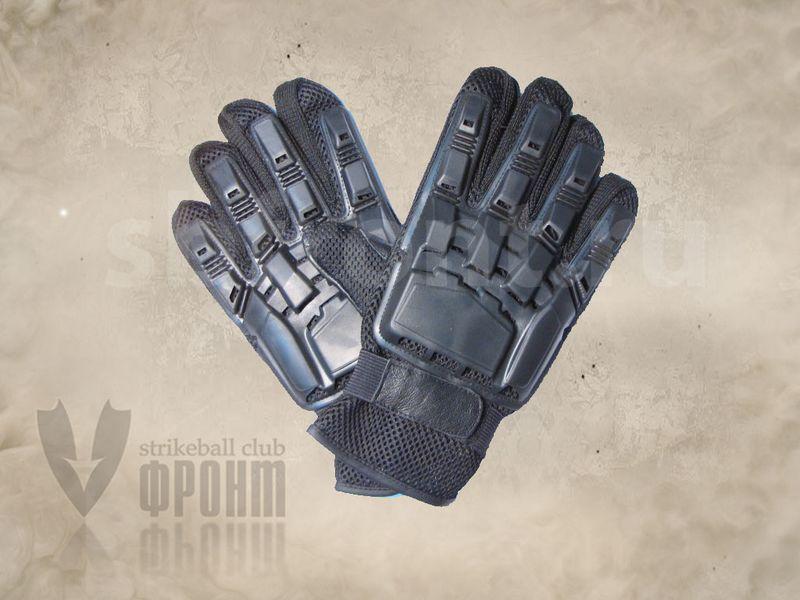 Перчатки Play Tech жёсткая защита, ткань-кожа, полный палец, фото 2