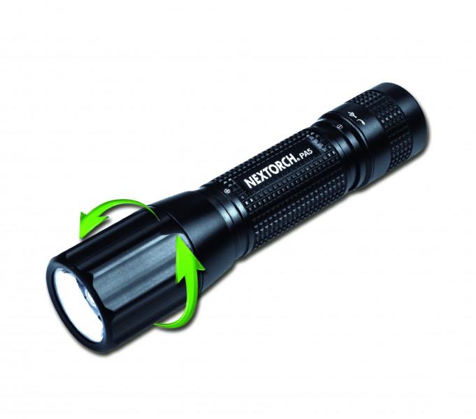 NexTORCH фонарь аккумуляторный PA5 светодиод CREE XP-L 660Lum, microUSB, фокус.блок,5 режимов, аккум, фото 2