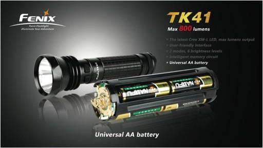 Fenix Тактический фонарь  TK41 Cree XM-L LED, фото 3