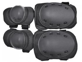 Комплект наколенников/налокотников US ARMY, черные (002-US-ARMY-BLK), фото 2