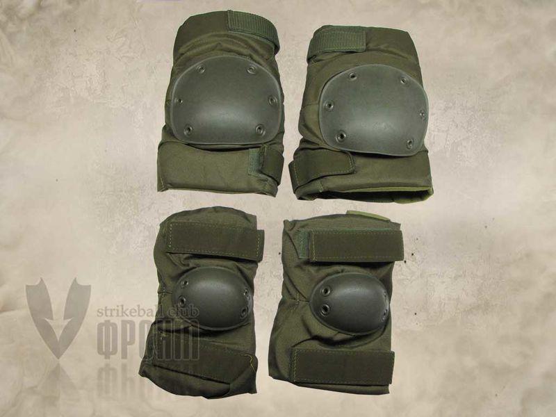 Комплект наколенников/налокотников US ARMY, олива (002-US-ARMY-OD), фото 3