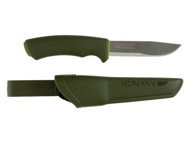 Нож Morakniv Bushcraft Forest, нержавеющая сталь, резиновая ручка, фото 3