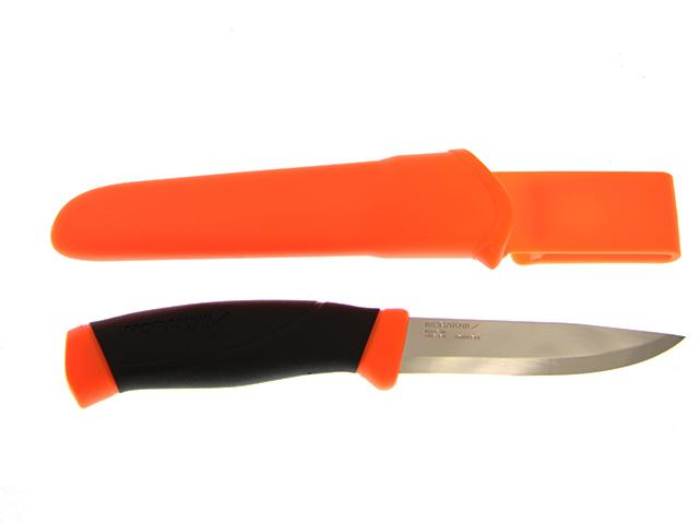 Нож Morakniv Companion F Orange, нержавеющая сталь, прорезиненная рукоядка с оранжевыми накладками, фото 4