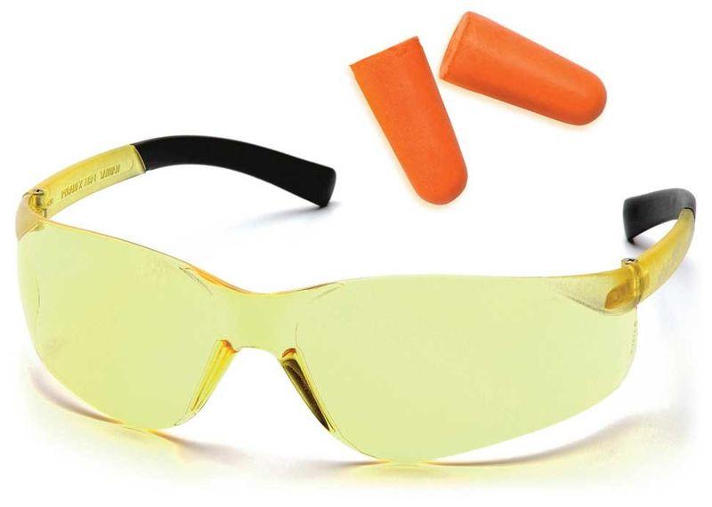 Очки PYRAMEX Ztek + беруши желтые (PYS2530SDP), фото 2