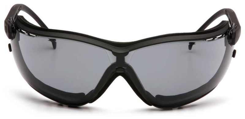 Очки PYRAMEX V2G GB1820ST (Anti-Fog, Diopter ready) темно-серые линзы, фото 4