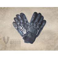 Перчатки Play Tech жёсткая защита, ткань-кожа, полный палец, фото 1