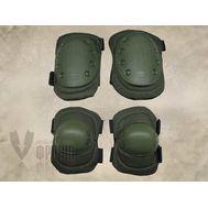 Комплект наколенников/налокотников US ARMY, олива (002-US-ARMY-OD), фото 1
